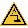 Pictogramme ISO 7010 en rouleau Danger Charge de la batterie en cours - W026