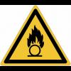 Pictogramme ISO 7010 en rouleau Danger Substances comburantes - W028