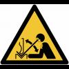 Panneaux et autocollants NF EN ISO 7010 Déplacement rapide de la pièce à mettre en forme dans une presse plieuse - W032