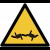 Pictogramme ISO 7010 en rouleau Danger Fil barbelé - W033