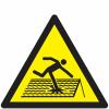 Pictogramme ISO 7010 en rouleau Danger Toiture fragile - W036