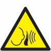 Pictogramme ISO 7010 en rouleau Danger Bruit fort soudain - W038