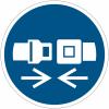 Pictogramme ISO 7010 en rouleau Attacher la ceinture de sécurité - M020
