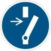 Pictogramme ISO 7010 en rouleau Débrancher avant d'effectuer une activité de maintenance ou une réparation - M021