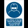 Panneaux NF EN ISO 7010 A3/A4/A5 Protection opaque des yeux obligatoire pour les enfants en bas âge - M025