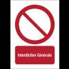 Panneaux NF EN ISO 7010 A3/A4/A5 Interdiction Générale - P001