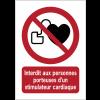 Panneaux NF EN ISO 7010 A3/A4/A5 Interdit aux personnes porteuses d'un stimulateur cardiaque - P007