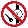 Pictogramme ISO 7010 en rouleau Articles métalliques ou montres interdits - P008
