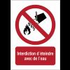 Panneaux NF EN ISO 7010 A3/A4/A5 Interdiction d´éteindre avec de l´eau - P011