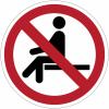 Pictogramme ISO 7010 en rouleau Interdiction de s'asseoir - P018