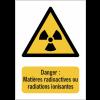 Panneaux NF EN ISO 7010 A3/A4/A5 Danger Matières radioactives ou radiations ionisantes - W003