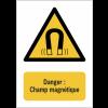 Panneaux NF EN ISO 7010 A3/A4/A5 Danger Champ magnétique - W006