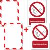 Porte-documents adhésifs à fermeture magnétique Interdiction de fumer