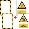 Porte-documents adhésifs à fermeture magnétique Danger Surface chaude
