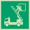 Autocollants et panneaux photoluminescents NF ISO 7010 Fenêtre de secours - E017