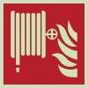 Autocollants et panneaux photoluminescents NF ISO 7010 Robinet d'incendie armé - F002