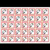 Autocollants CLP haute résistance en planche Matières corrosives - GHS05