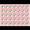 Autocollants CLP haute résistance en planche Toxicité aigüe catégorie 1, 2, 3 - GHS06