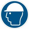 Pictogrammes NF EN ISO en aluminium Casque de protection obligatoire - M014
