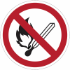 Pictogrammes NF EN ISO en aluminium Flammes nues interdites