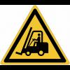 Pictogrammes NF EN ISO en aluminium Danger chariots élévateurs et autres véhicules industriels - W014