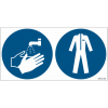 Pictogrammes ISO 7010 Lavage mains & vêtements protection