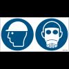 Pictogrammes ISO 7010 Casque & Masque à gaz obligatoires