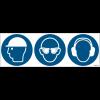 Pictogrammes ISO 7010 Casque, lunettes et serre tête antibruit