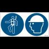 Pictogrammes ISO 7010 Harnais & casque de sécurité obligatoires