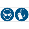 Pictogrammes ISO 7010 Lunettes & gants obligatoires