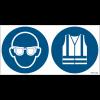 Pictogrammes ISO 7010 Lunettes et Gilet Hi-viz obligatoires