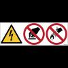 Pictogrammes ISO 7010 Danger électrique, interdiction de toucher