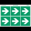 """Pictogrammes en planche NF EN ISO 7010 """"Flèche évacuation droite"""" A090"""