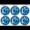 """Pictogrammes en planche NF EN ISO 7010 """"Visière de protection obligatoire"""" M013"""
