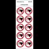 """Pictogrammes en planche NF EN ISO 7010 """"Interdit aux porteurs de stimulateur cardiaque"""" P007"""
