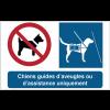 Pictogrammes adhésifs Chiens interdits sauf chiens guides d'aveugles