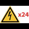 Prix Spécial - Pack de pictogrammes autocollants ISO 7010 Danger électrique W012