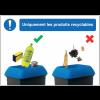 Autocollants et panneaux bonnes pratiques - Uniquement les produits recyclables