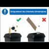 Autocollants et panneaux bonnes pratiques - Uniquement les déchets alimentaires