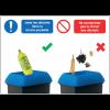 Autocollants et panneaux bonnes pratiques - Jetez les déchets dans la bonne poubelle - Ne contaminez pas le circuit des déchets