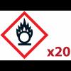 """Pack 20 pictogrammes CLP """"Matières comburantes"""""""