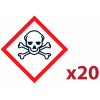 "Pack 20 pictogrammes CLP ""Matières toxiques"""