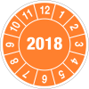 Pastilles calendrier rondes année complète en polyoléfine ultra-destructible