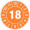 Pastilles calendrier rondes année simple en polyester laminé en rouleau
