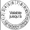 Pastilles calendrier rondes avec texte en polyester laminé en rouleau