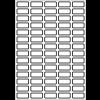 Etiquettes en polyester blanc pour imprimante Laser