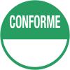 """Pastilles en papier multi-usages """"Conformité"""" à compléter"""
