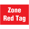 Signalétique murale - Zone Red tag
