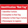 Signalétique murale Red Tag avec instructions