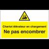 Marquage au sol avec texte et pictogramme - Chariots élévateurs en chargement  - W014